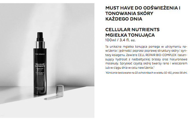 Madara Time Miracle Cellular Nutrients mgiełka tonująca