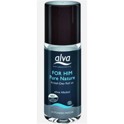 Alva For Him Pure Nature intensywny dezodorant z ałunem w kulce 50 ml